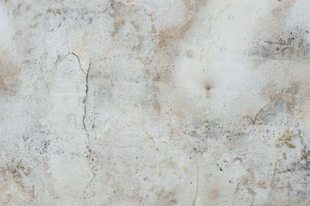 Old cement pattern background There are patterns of color disintegration. And the grass stains