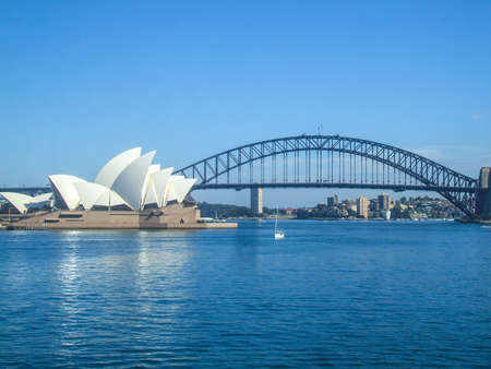 sydney harbour bridge: Sydney Opera House Sydney Harbour Bridge road bridge city Australia Sydney beautiful curve house people Habitat 4 Editorial