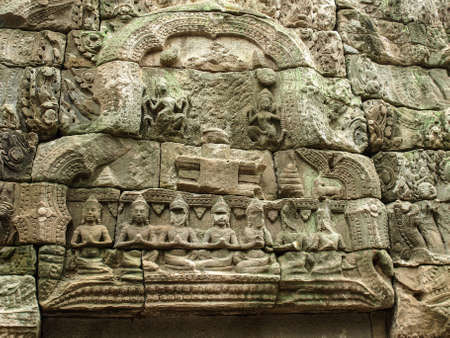 lintel: Cambodia Angkor Wat Khmer Asia tourist attraction pathway View Castle Rock archaeologicalsite door arch lintel Carvings 4