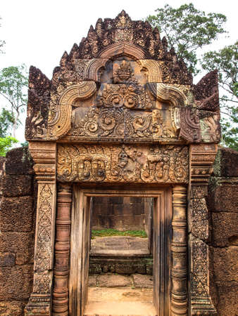 lintel: Cambodia Angkor Wat Khmer Asia tourist attraction pathway View Castle Rock archaeologicalsite door arch lintel Carvings 11