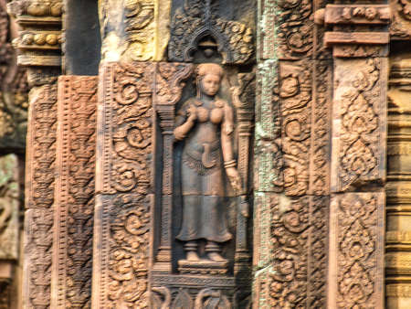 lintel: Cambodia Angkor Wat Khmer Asia tourist attraction pathway View Castle Rock archaeologicalsite door arch lintel Carvings goddess