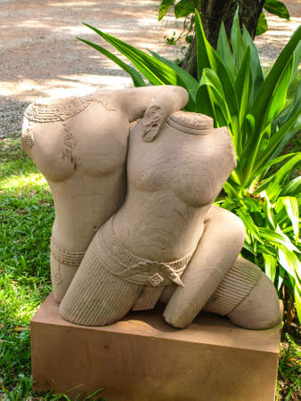 carver: Cambodia Angkor Wat Khmer Asia tourist attraction pathway View Craft Centre Crafts centers crafts Wood carving Carver Human body