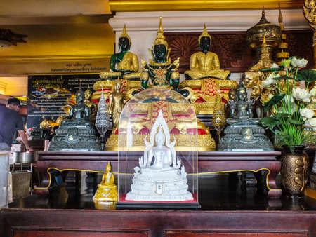 paradigm: Buddha statue  View  Stick to the paradigm  pathway golden mountain 10 Stock Photo