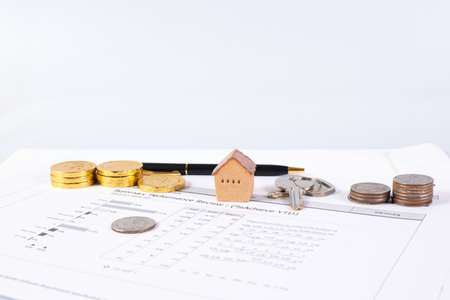 House and document, invesment and realestate concept
