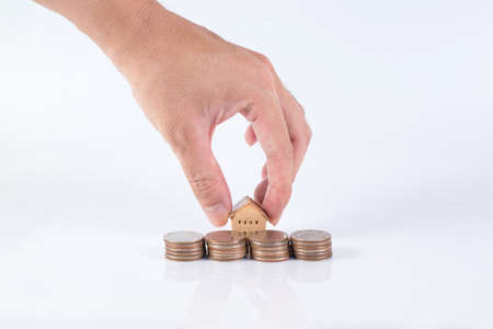 House and coins stack ,realestate concept