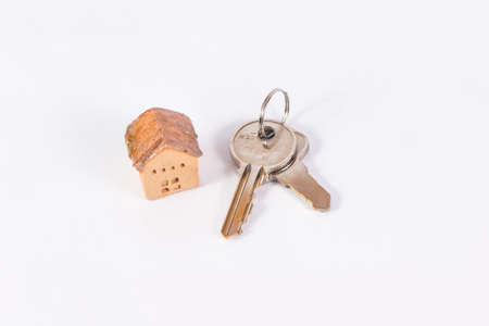 keyring: House and keyring,  invesment and realestate cconcept