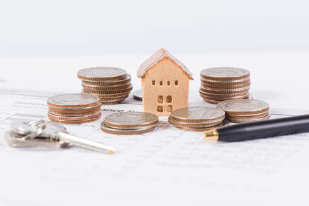 House and keyring,  invesment and realestate concept Stock Photo
