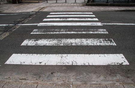 Crosswalk in the city photo