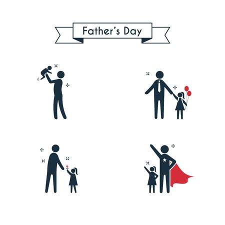 Icon vector set for father's day Illustration