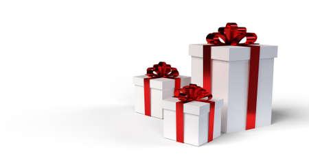 3D rendering illustration of gift box for Christmas 스톡 콘텐츠