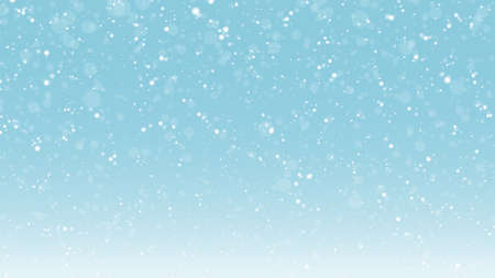Vector illustration of snow background on blue