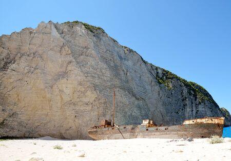 Shipwreck of Navagio beach at Zakynthos