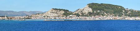 Zakynthos and port, view from sea