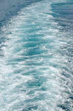 Water trail  of a ferryboat