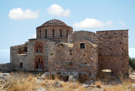 Church of Agia Sophia at Monemvasia on the top of hillside