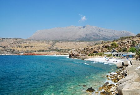Beach  of Pirgos Dirou near to the entrance of famous sight, Diros cave Stock Photo - 128193065