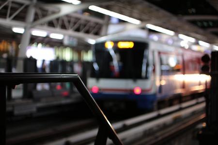 Blur night light train station