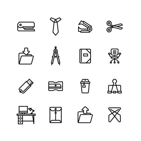 Office Business Icon Set Banco de Imagens - 108727705