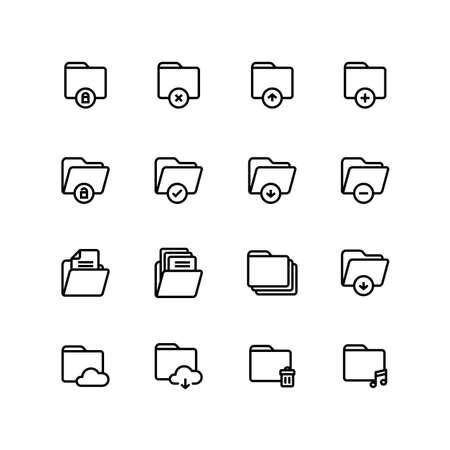 Folder Office Business Icon Set
