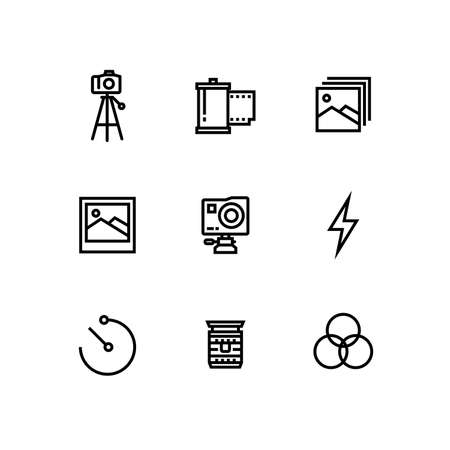 Camera Lenses Photography Icon Set