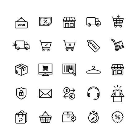 E-commerce Shop On-line Icon Set Foto de archivo - 108894528
