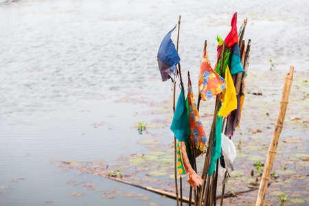 Fluttering Flag at the Lake