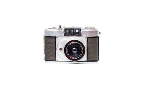 BANGKOK, THAILAND - JUNE 5, 2020 Retro Vintage Meisupii Half Film Camera on white background in Bangkok, Thailand on JUNE 5, 2020