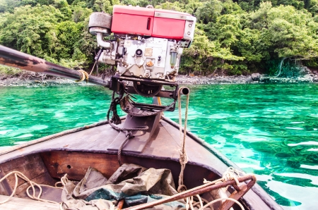 Engine Boat on the sea in thailand photo
