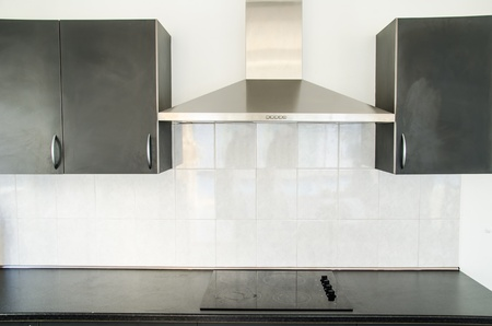 Cooker hood in kitchen room Stok Fotoğraf