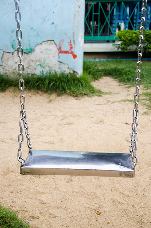 stainless swing in park Stock Photo - 22363654