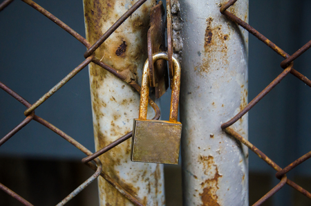 lock and chain of pole photo