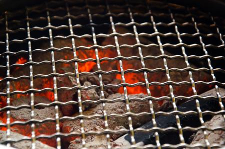 쇠 격자: grate on stove and fire