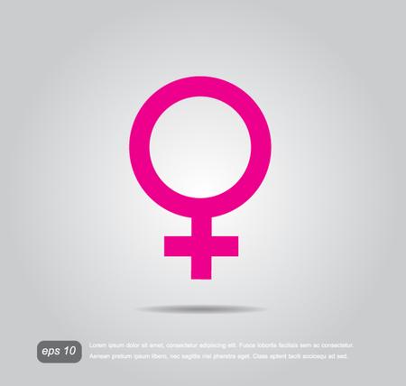 vrouwelijke teken pictogram Stock Illustratie