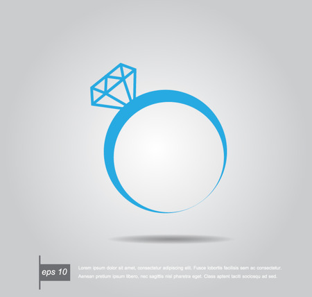 silver ring: Vector illustration of a diamond ring