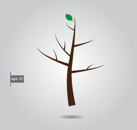 which one: tree on which one leaf vector