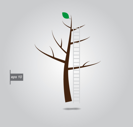 which one: ladder tree on which one leaf vector