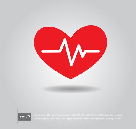 electrocardiograph: Heartbeat electrocardiograph icon vector