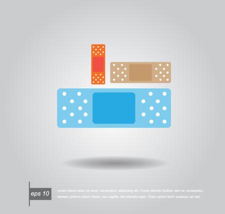 band aid: illustration of medical bandage vector icon Illustration
