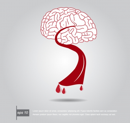 brain and blood vector icon Vector