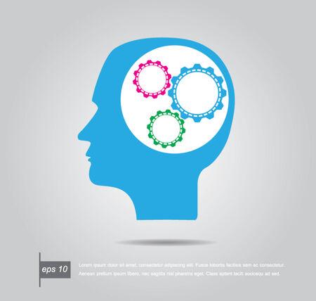 human head gear vector icon Vector