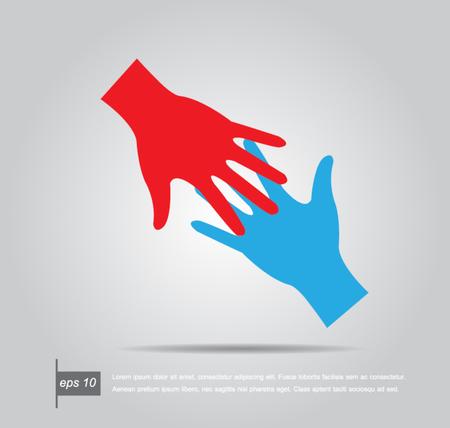 Coup de main. Vector illustration Banque d'images - 24021763