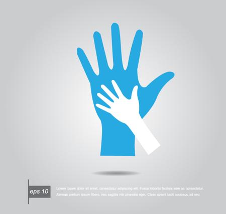 ni�os ayudando: Ayudar a las manos. Ilustraci�n vectorial Vectores