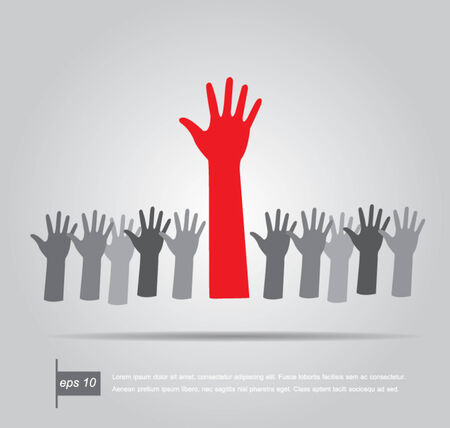 up hands, vector illustration