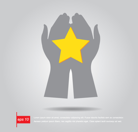 hand hold star vector icon Vector