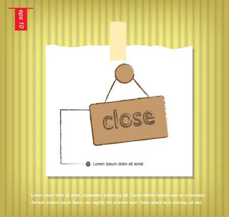 sticky tape: Cesta de la Muestra de la tarjeta cerca de vectores icono en papeles de nota con una cinta adhesiva pegada en el icono de la pared vector