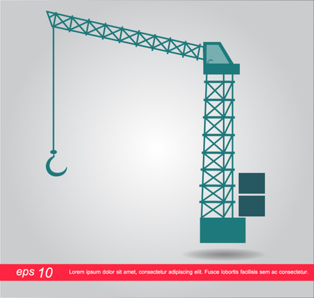 tower crane: crane icon Illustration