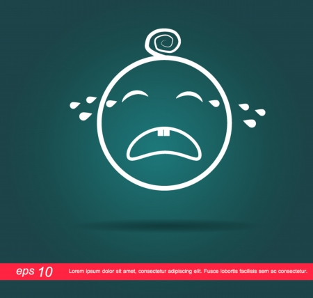 baby crying icon Vector