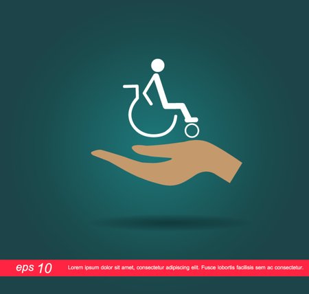 hand hold disabled icon Vector