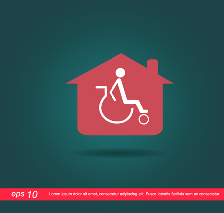 disabled in home icon Vector