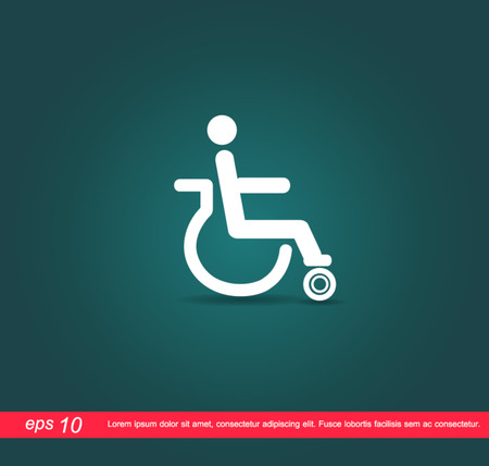 disabled icon Stock Vector - 25035041